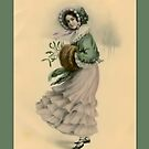 Holiday Greeting-Victorian Adolescent by Yesteryears