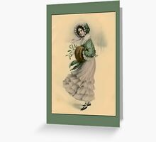 Holiday Greeting-Victorian Adolescent Greeting Card