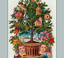 Holiday Greeting-Victorian Christmas Tree by Yesteryears