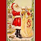 Holiday Greeting-Santa with Sack by Yesteryears