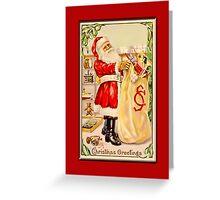 Holiday Greeting-Santa with Sack Greeting Card