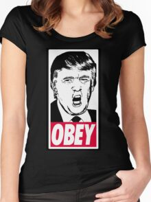 Trump - Obey Women's Fitted Scoop T-Shirt