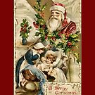 Holiday Greeting-Santa and Baby by Yesteryears