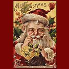 Holiday Greeting-Victorian Santa by Yesteryears