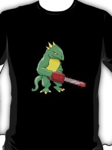 LIZARD MAN WITH CHAINSAW T-Shirt
