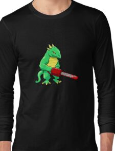 LIZARD MAN WITH CHAINSAW Long Sleeve T-Shirt