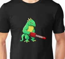 LIZARD MAN WITH CHAINSAW Unisex T-Shirt