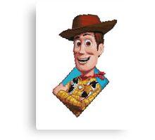 Pixel Woody Canvas Print