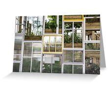 window frames Greeting Card