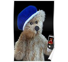 ❀◕‿◕❀TEDDY BEAR'S CELL PHONE.. SHOWING OFF HIS LITTLE GIRL FRIEND AW..❀◕‿◕❀ Poster