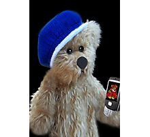 ❀◕‿◕❀TEDDY BEAR'S CELL PHONE.. SHOWING OFF HIS LITTLE GIRL FRIEND AW..❀◕‿◕❀ Photographic Print
