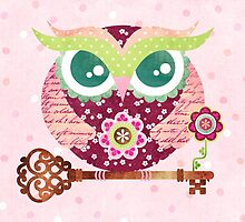 Spring Blossom Owl by sandygrafik