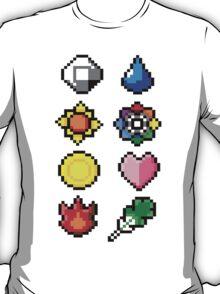 Indigo League Badges V.2 T-Shirt