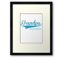 grandpa since 2012 Framed Print