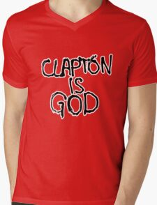 Clapton is God | London subway grafitti Mens V-Neck T-Shirt