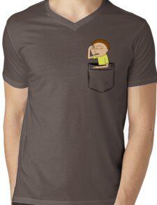 Morty Pocket Mens V-Neck T-Shirt
