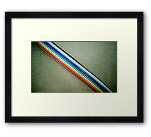 Ribbon Cable Framed Print