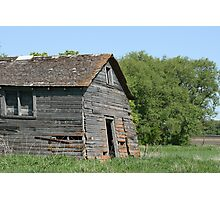 Abandoned Barn Collapsing Photographic Print