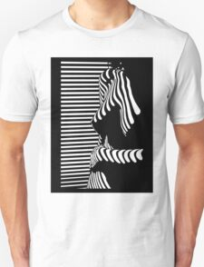 """blinded"" Noir Nude. Photo turned stencil painting. Unisex T-Shirt"