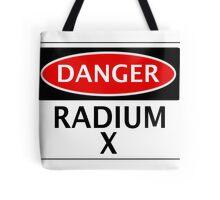 DANGER RADIUM X FAKE ELEMENT FUNNY SAFETY SIGN SIGNAGE Tote Bag