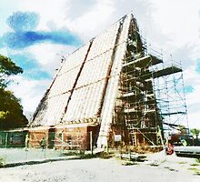 The Construction of the Cardboard Cathedral  by PictureNZ