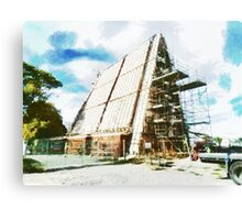 The Construction of the Cardboard Cathedral  Canvas Print