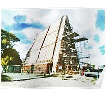 The Construction of the Cardboard Cathedral  Poster