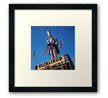 Excalibur Sold Here Framed Print