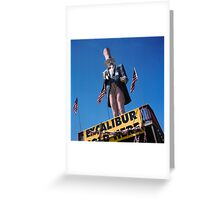 Excalibur Sold Here Greeting Card