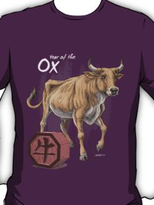 Chinese Zodiac - The Ox Card T-Shirt