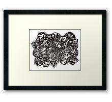Word Art ~ White Framed Print