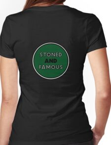 Stoned & Famous Back Logo Womens Fitted T-Shirt
