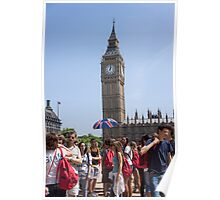 tourists view big ben Poster
