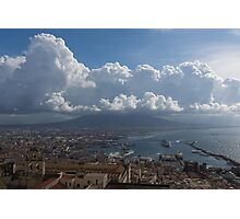 Cruising Into the Port of Naples, Italy Photographic Print