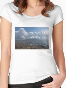 Cruising Into the Port of Naples, Italy Women's Fitted Scoop T-Shirt