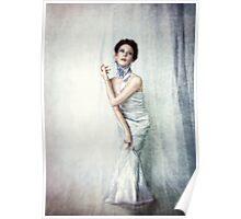 Girl Blue Poster