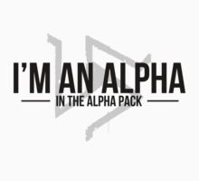 alpha in the alpha pack Kids Clothes