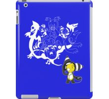 Music Demon Blue iPad Case (White Outline) iPad Case/Skin