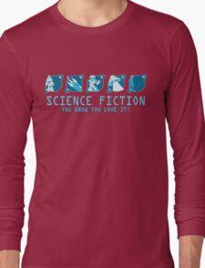 Sci Fi Icons Long Sleeve T-Shirt