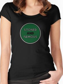 Stoned & Famous Front Logo Women's Fitted Scoop T-Shirt