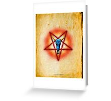 NATIVE PENTAGRAM - 018 Greeting Card