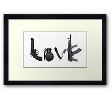 Love Guns Framed Print