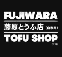Fujiwara Tofu Shop Official Tee (White) by Chad D'cruze
