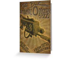 Ray gun #2 - DarkMatter Anitiatomizer Greeting Card