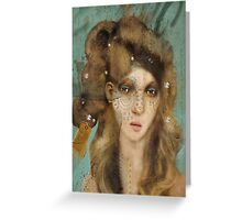 The Girl with Curious Hair Greeting Card