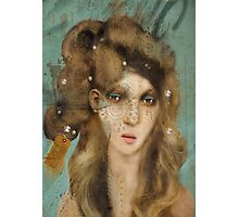 The Girl with Curious Hair Photographic Print