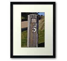Moonah Links Series #103 Framed Print