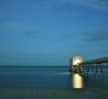 Selsey Lifeboat Pier at Nightfall by Matthew Floyd