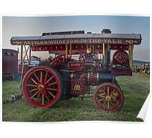 Showmans Traction Engine Poster