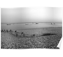Selsey Beach and Boats Poster